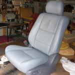 Siedzenie samochodowe po renowacjied renowacją