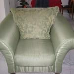 fotel bez pokrowca i w pokrowcu