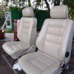 skórzane fotele auta po renowacji tapicerskiej