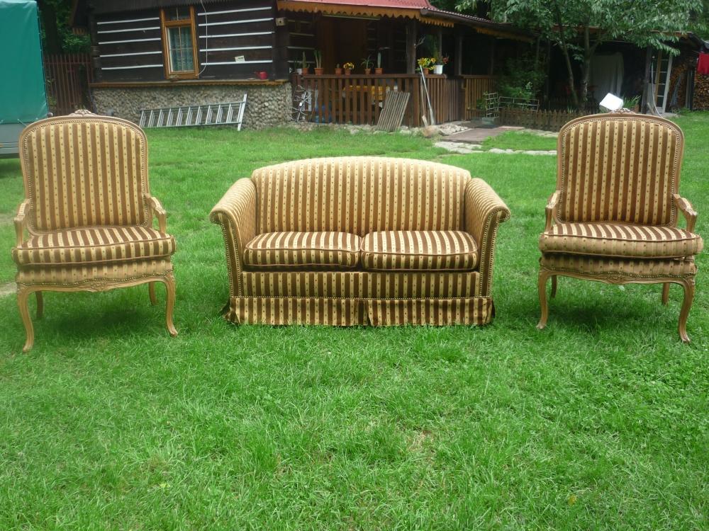 kanapa i dwa fotele po renowacji