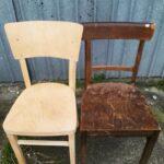 krzesła przed i po piaskowaniu